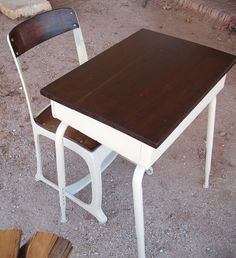 Vintage School Desk for Child