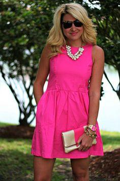 Light pink 60s dress style