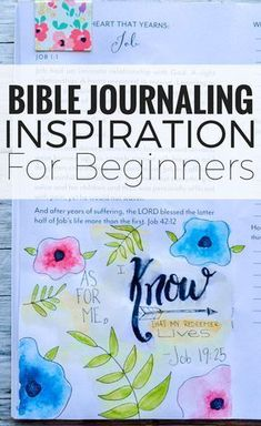 Bible Journaling Ideas that Anyone can Do! Bible Journaling inspiration for beginnersBible Journaling inspiration for beginners Bible Study Notebook, Bible Study Tips, Bible Study Journal, Scripture Study, Bible Art, Prayer Journals, Scripture Journal, Art Journaling, Journal Notebook