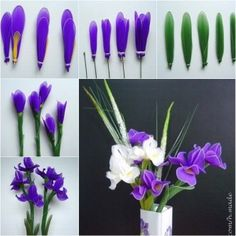 DIY nylon flower with reused tights tutorial, instruction.  Follow us: http://on.fb.me/1rWIbQo