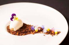 Final Feliz: Chocolate brownie garden with yogurt ice cream