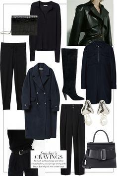 Sunday's Cravings: Black and Navy Fall Fashion Trends, 70s Fashion, Vintage Fashion, Fashion Looks, Classy Edgy Fashion, Rock Fashion, Komplette Outfits, Trendy Outfits, Fashion Outfits