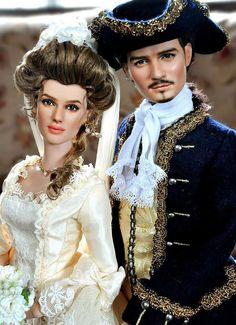 Orlando Bloom and Kiera knightley repainted by Noel Cruz