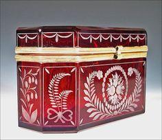 1904 St Jewel Casket Louis Electricity Building Antique Eglomise Souvenir Box