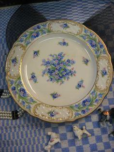 Vintage Porcelain 7 3/4 Dessert Plate Schumann Bavaria by MOJEART, $95.00