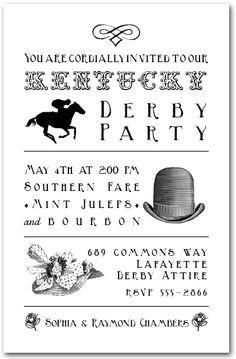 Kentucky Derby Invitation 3