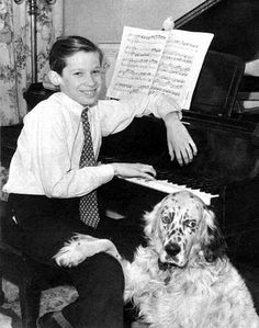 Glenn Gould with his dog