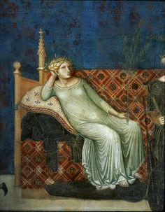 Lorenzetti,Ambrogio  The allegory of good government, detail: Peace. (Mural)  Palazzo Pubblico, Siena, Italy