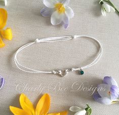 Birthstone Anklet Anklet Anklet with Crystal Charm Anklet Silver Anklets, Beaded Anklets, Ankle Chain, Bee Design, Summer Jewelry, Ankle Bracelets, Toe Rings, Small Gifts, Heart Charm