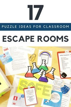 17 Escape Room Puzzle Ideas for Your Classroom Coming up with escape room ideas for your classroom can be challenging. Here are 17 escape room puzzle ideas to help get your creative juices flowing. Room Escape Games, Escape Room Diy, Escape Room For Kids, Escape Room Puzzles, Escape Room Online, Escape Room Themes, Escape Box, Escape Space, Breakout Edu