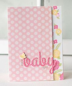 New Baby Girl Card by Betsy Veldman for Papertrey Ink (May 2013)