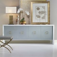 Shop Liza Textured Concrete Console from Century Furniture at Horchow, where you'll find new lower shipping on hundreds of home furnishings and gifts. Side Board, Solid Wood Shelves, Hooker Furniture, Fine Furniture, Luxury Furniture, Furniture Design, Sideboard Buffet, Modern Sideboard, Modern Kitchens