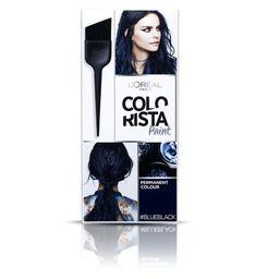 Hair Colour || Colorista Paint- BlueBlack Hair (permanent colour)