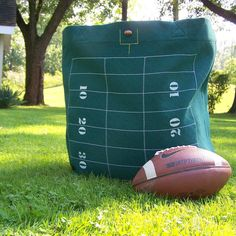 Football Tote Bag  Oversized Tote  Green  Stadium by MaidenJane, $85.00