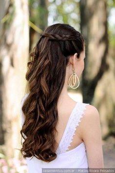 Si buscás un look romántico, un peinado con trenzas puede ser la mejor opción.