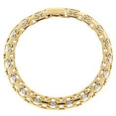 Absolute Diamond Gold Bismark Bracelet