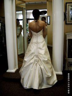 3 point overbustle Wedding Dress Bustle Types | Weddinary.com