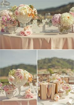 Vintage Romantic Wedding set at a winery ... great executed theme!