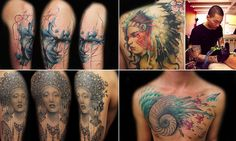 I managed to get my client this feature some time ago in the Daily Mail Online UK and it was their most shared and most clicked article this month #UrWhatUshare  Freestyle tattooist: Mindblowing designs improvised in spur of moment