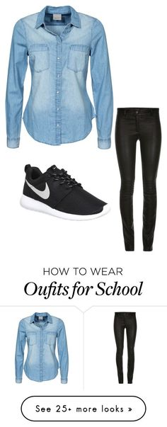 """School day"" by umeitt on Polyvore featuring Vero Moda, NIKE, women's clothing, women's fashion, women, female, woman, misses and juniors"