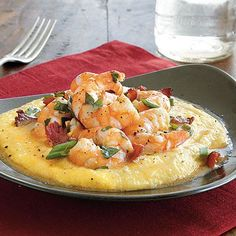 MyRecipes America's Favorite Food Cookbook Best of the Best Recipes Easy Shrimp And Grits, Shrimp And Cheese Grits, Best Shrimp And Grits Recipe, Shrip And Grits Recipe, Cajun Grits Recipe, Easy Grits Recipe, Shrimp And Polenta, Southern Shrimp And Grits, Baked Shrimp