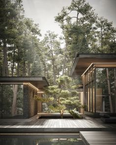 Dream Home Design, Modern House Design, Modern Glass House, Glass House Design, Modern House Facades, Amazing Architecture, Interior Architecture, Architecture House Design, Concrete Architecture