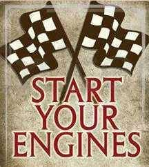 .- can't wait to hear the sound of those engines! :) #nascar.  Crank it up!