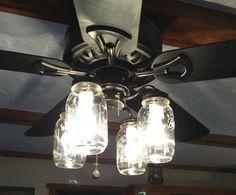 Vintage Canning Jar Ceiling Fan Light Kit 149 00 Via