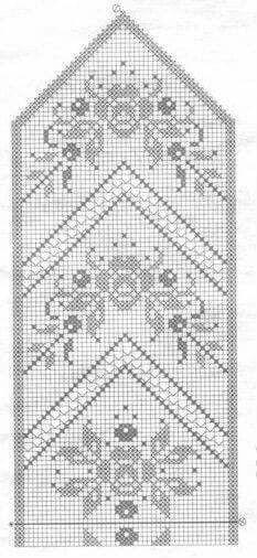 Knitting Mittens Chart Tapestry Crochet Ideas For 2019 Filet Crochet Charts, Crochet Cross, Knitting Charts, Thread Crochet, Crochet Lace, Crochet Stitches, Knitting Patterns, Crochet Patterns, Crochet Table Runner