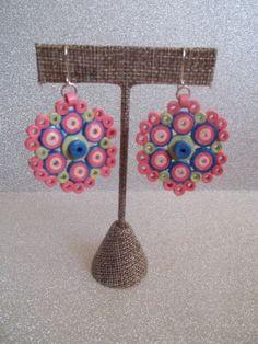 Sterling Paper Earrings Quilled Earrings Quilling by PaperXanadu