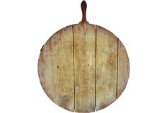 Round German bread board that would make a great serving tray for cheese and bread.