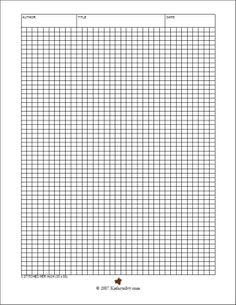 knitting graph paper generator   Knitting graph paper ...