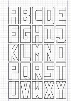 The Alphabet A To Z Written In Capital Letters On Isometric Paper