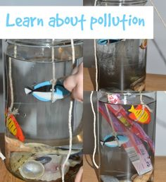 Fun sea pollution activity suitable for EYFS. – Conservation Activities for Kids – Recycling Eyfs Activities, Earth Day Activities, Hands On Activities, Science Activities, Recycling Activities For Kids, Babysitting Activities, Science Ideas, Science Week, Preschool Science