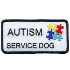 Autism Service Dog Patch 2x4 by allworldservice on Etsy