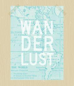 Wanderlust Print Travel Quote Print Printable by HeritageCurrentCo, $8.00