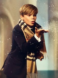 "The Burberry festive film ""From London with Love"" - a tale of music and magic starring Romeo Beckham"