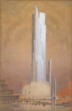 Ralph Thomas Walker, Century of Progress Exposition Tower of Water and Light, Chicago, Final Design, 1930
