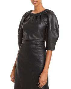 Kate Walsh, Vegan Shopping, Blouse Online, Rebecca Taylor, Black Blouse, Vegan Leather, Blouses For Women, Fall Outfits, Leather Skirt