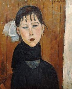 Titre de l'image : Amadeo Modigliani - La Marie petite