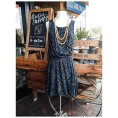 "Free People dress $154 31 Bits ""canopy"" necklace $48 #shopbluewindows #freepeople #31bits #fashionforgood #ootd #lotd #shoplocal #tgif ☀️"