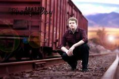 Senior boy photography train tracks