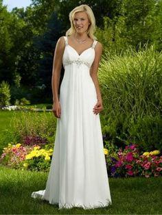 Stock Beach Chiffon Wedding Dress Bridal Gown Size 6 16 White Ivory | eBay