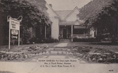 Seven Gables for Overnight Guests. Mrs. J. Frank Parker, Hostess, U.S. No. 1 South, Wake Forest, NC