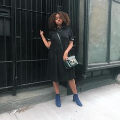 How to Seamlessly Work Black Into Your Summer Style Bright Shoes, Campus Style, Pastel Shades, Dresses For Work, Summer Dresses, Summer Wardrobe, Wearing Black, Pale Pink, Favorite Color