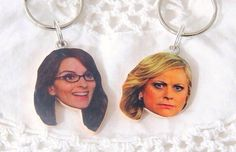 Gift Leslie Knope Keychain Parks And Rec By Cleopatracandy On Etsy Https Listing 253379244 Amy Poehler Tina Fey Keychains