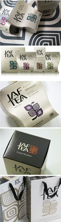 tea labels and packaging | Jaf Tea by Studio h