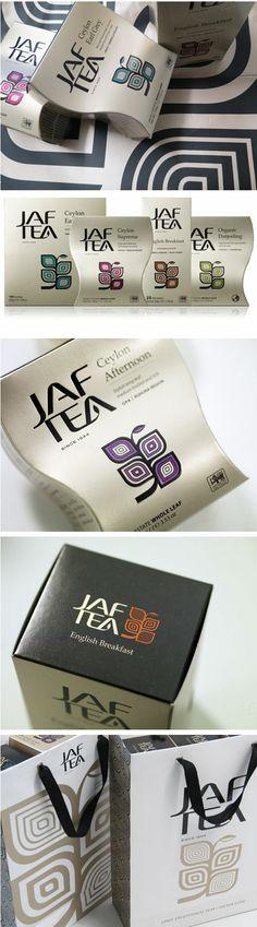 tea labels and packaging | Jaf Tea by Studio h