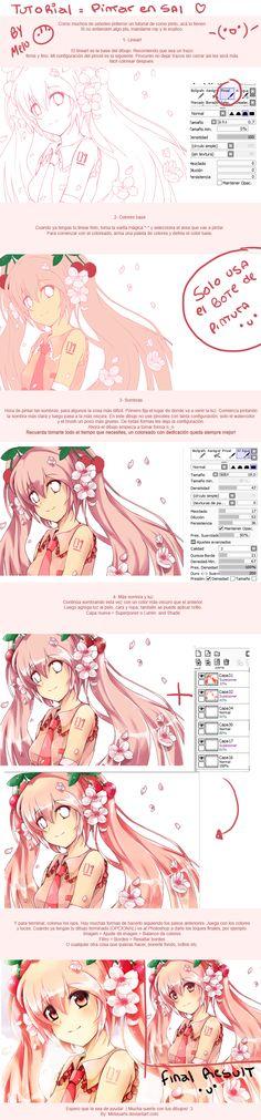 Como colorear en SAI - How to paint in Sai by MeluuArts.deviantart.com on @deviantART