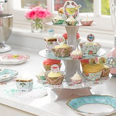 Talking Tables Frills and Frosting Three Tier Cake Stand - Putti Fine Furnishings